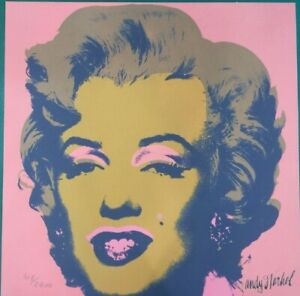 Andy Warhol Marilyn Monroe 60x60 CM Certificado De Autenticidad/' MZ021