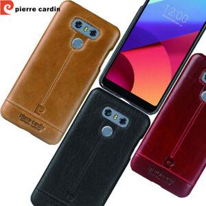 For-LG-G4-G5-G7-G6-V20-V30-Pierre-Cardin-Genuine-Leather-PC-Hard-Back-Case-Cover