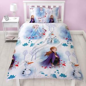 Officiel-Disney-Frozen-2-Element-Housse-Couette-Simple-Enfants-Elsa-Anna-Olaf