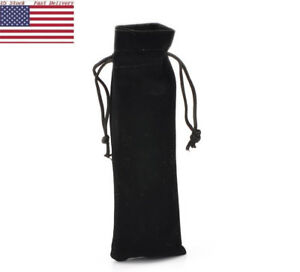 Details About Us 10pcs Black Long Velvet Drawstring Pouches Jewelry Gift Bags Wedding Favour