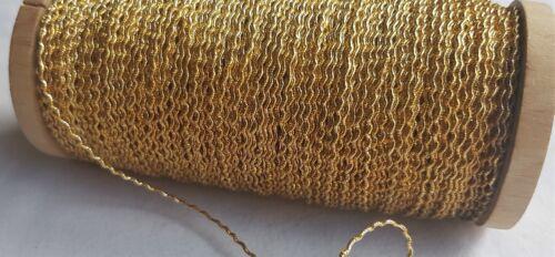 Vintage Gold Metallic Rococo Thread Nice Quality French