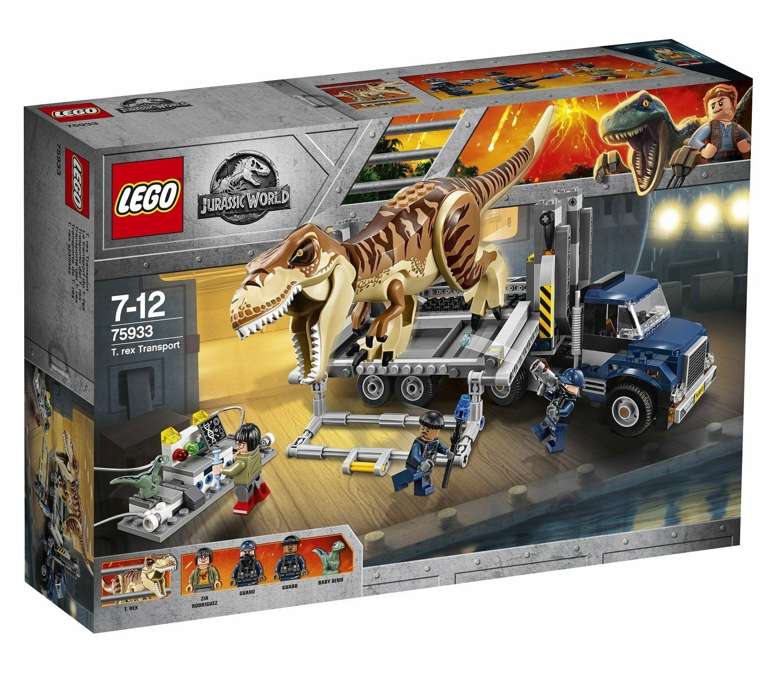 LEGO Jurassic World T. rex Transport 2018 (75933) Rexy Tyrannosaurus NIB