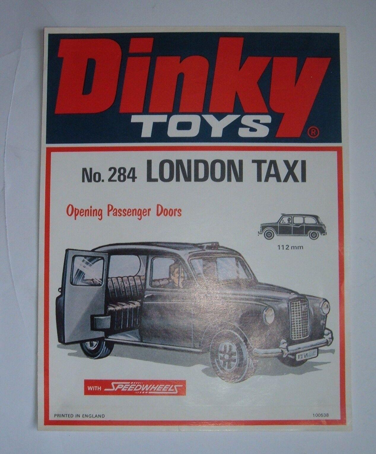 más vendido Dinky Juguetes Nº 284, London Taxi, raro de la tienda tienda tienda pantalla signo, - Excelente  descuento online