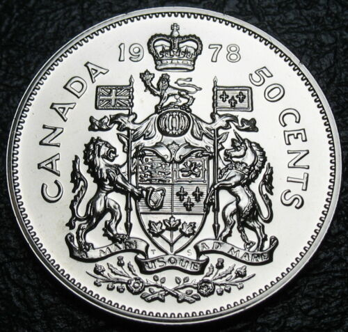 SPECIMEN RCM Square Jewels Uncirculated 1978-50-cents- Coat of Arms