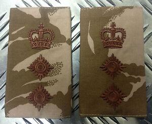 Genuine-British-Army-Desert-Camouflage-COLONEL-Rank-Slides-Epaulettes-NEW