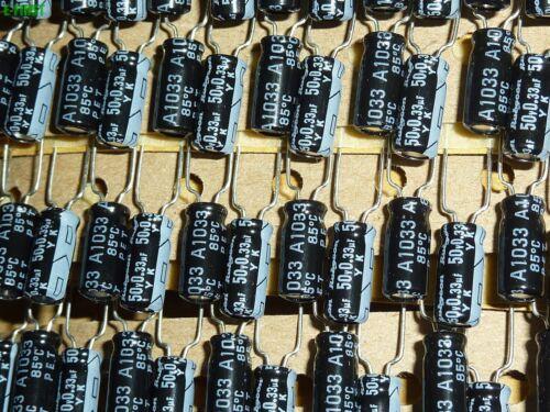 20x Rubycon 50V0.33uF 50V YK Electrolytic Capacitors 5X11 85℃