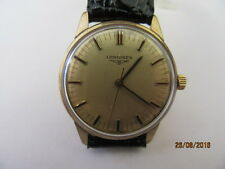 Gents 9ct Gold Longines 6942 Manual Wind Wrist Watch C1973 In Working Order