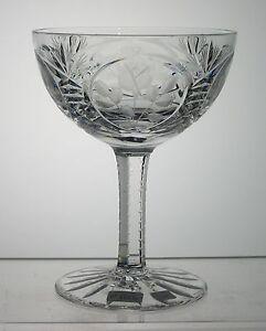 ROSE-IMPERLUX-Germany-Champagne-Sherbet-4-3-4-034-Rose-Pattern-Notched-Stem