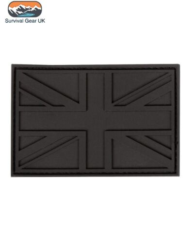 UK Stealth Black Special Forces PVC Patch Airsoft Morale FREE DELIVERY