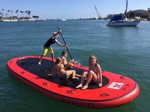 585caa26548c Inflatable PVC 10-14 Person Oversized Paddle Board Surf Board Dingy ...