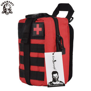 Tactical-First-Aid-Kit-Survival-Molle-Rip-Away-EMT-Pouch-Bag-IFAK-Medical-Red