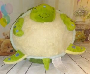 "Large 15"" Squishable Plush Sea Turtle Stuffed Animal Soft Toy Round Plump"