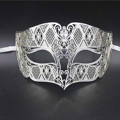 White Men/'s Smoking Venetian Metal Filigree Masquerade Mask Masked Ball Party