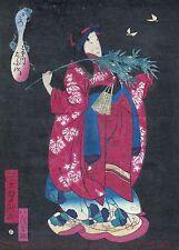 UTAGAWA YOSHITAKI ukiyo-e ESTAMPE JAPONAISE AUTHENTIQUE original japan woodblock