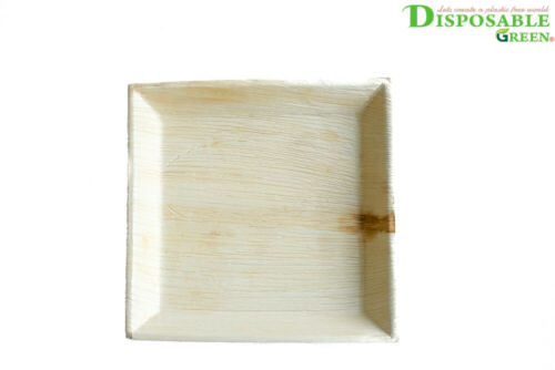 Disposable,Biodegradable Eco-Friendly Pack of 10 27CM SQUARE PLATTER