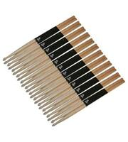 Gp Percussion Wooden Oak Drumsticks W/ Wooden Tip, Lot Of 24 (12 Pair), Gpds5b ^ on sale