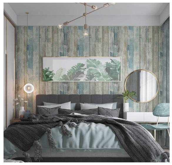 Livingwalls Self Adhesive Panel Pop Up Panel Vintage Wood Effect Photo Realistic