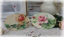 "A set of 2 ""Roses..."" ~ Shabby Chic ~ Country Cottage style ~ Wall Decor Sign"