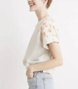 Madewell New Denim Project Womens 2XS K6656 Patchwork Top Blouse Floral