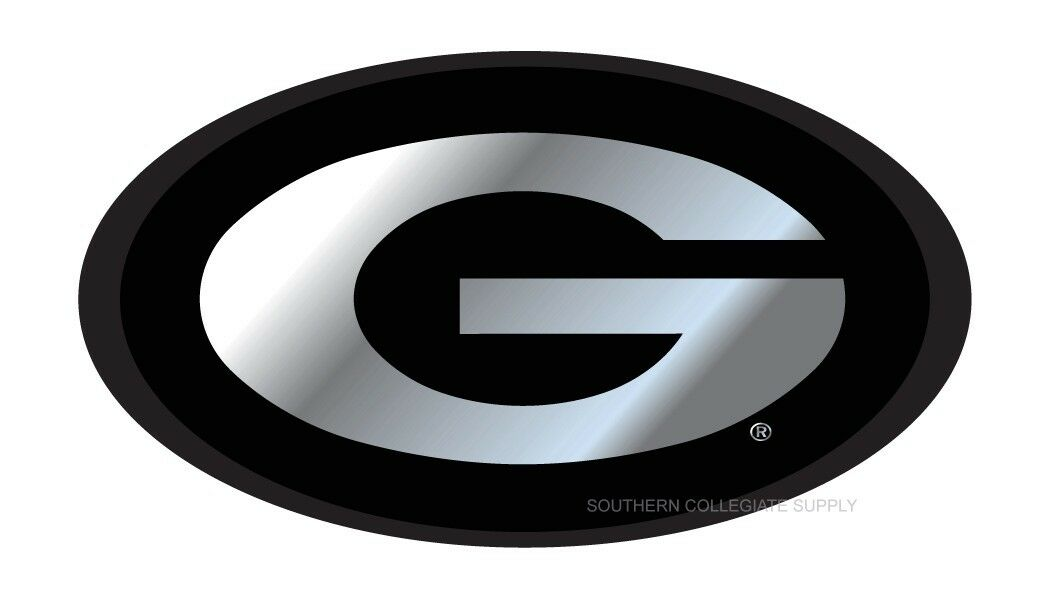 University of Georgia Bulldogs Bright Polished Chrome with G Emblem NCAA College Sports Metal Trailer Hitch Cover Fits 2 Inch Auto Car Truck Receiver