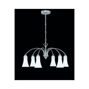 Origeneller 4-Flammiger Design Kronleuchter in Chrom Glas 4x60W E14 Pendelleucht