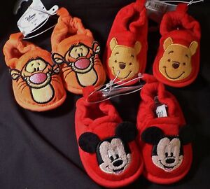 ef42fb83a Image is loading MiCkEy-MoUSe-WiNNiE-PooH-TiGGeR-INFANT-Costume-SLIPPERS-