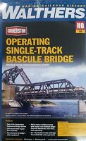 3070 Walthers Operating Motorized Singletrack Railroad Bascule Bridge Ho Scale