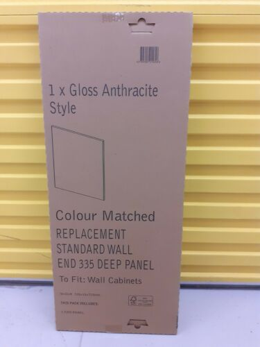 B /& Q Gloss Anthracite Wall End Panel 335 mm
