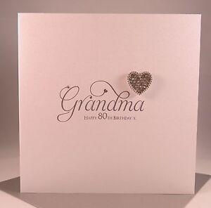 Image Is Loading Luxury Diamante Heart GRANDMA Birthday Card Grandmother Gran