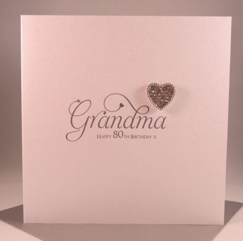 Luxury Diamant Heart Grandma Birthday Card Grandmother Gran