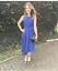 Ted-Baker-Blue-Fit-amp-Flare-Arola-Textured-Drape-Asymmetric-Party-Dress-UK-8-10 thumbnail 1