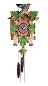 Lowell - Cucù in legno a movimento meccanico, colore Verde