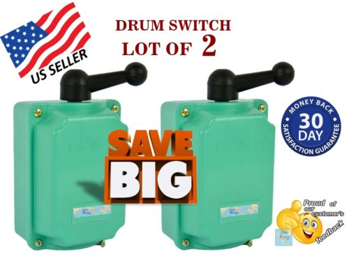 Guaranteed Drum Switch Lot of 2-60A Forward-Off-Reverse Motor Control