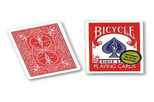 BICYCLE RIDER BACK BLUE DECK GOLD STANDARD PLAYING CARDS USPCC POKER MAGIC TRICK