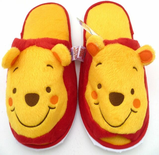 bb689783d3c2 Winnie The Pooh Adult Costume Plush Doll Fancy Shoes Indoor Slippers ...