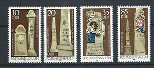 Allemagne-DDR-N-2486-89-MNH-1984-Colonnes-de-millages-postales