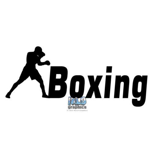 BOXING vinyl sticker decal Truck Car Computer Boxer Sparring Kick Sport MMA