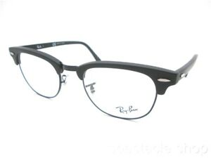 0f38ed7e59e Ray Ban RB 5154 2077 49 Clubmaster Matte Black New Guaranteed ...