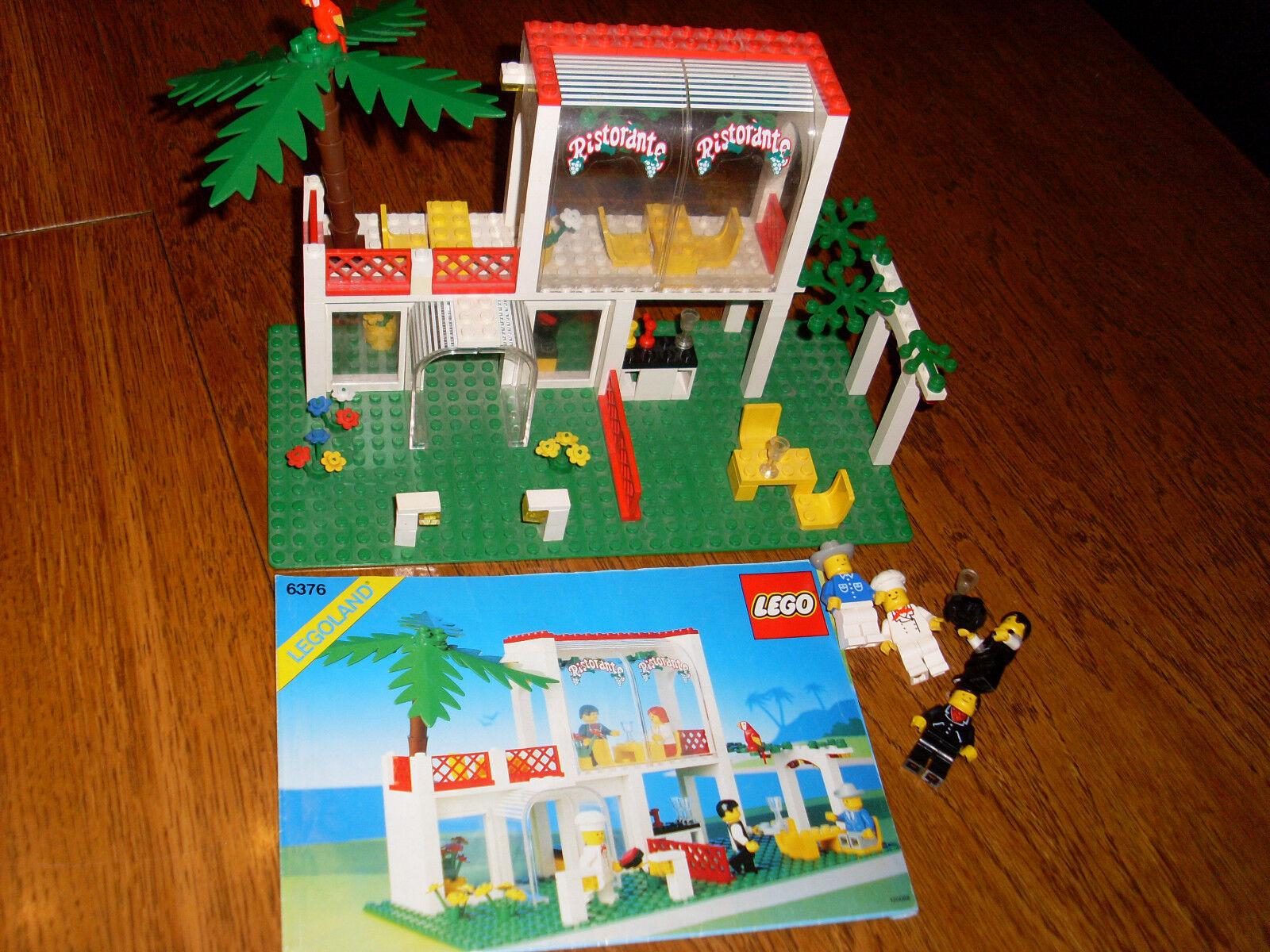 Lego Ristorante  6376 + Bauanleitung + Figuren