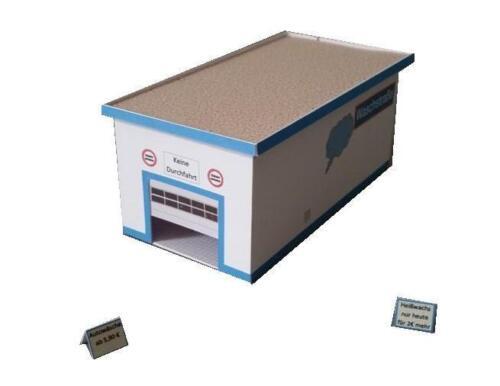 Freie Tankstelle mit Waschanlage und Waschboxen HO Epoche 5//6 Kartonbausatz 1:87