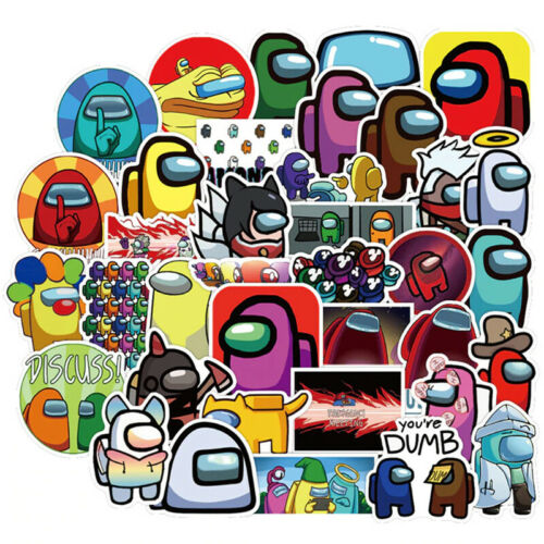 10pcs Game Sticker Amoung Us cartoon Graffity Waterproof PVC Stickers For Doors