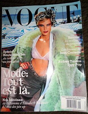 Vogue Paris 9/2003 Carolyn Murphy Audrey Tautou Elise Crombez Missoni Iggy Pop