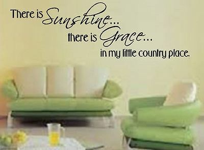 Wall Sticker Sunshine Grace Country Place slogan Lounge Vinyl wall art Decal