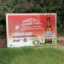 Budweiser Chicago Cubs 2016 World Series Champs Beer Bar Man Cave Mirror