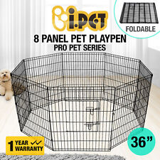 "i.Pet 24"" 30"" 36"" 8 Panel Pet Dog Playpen Puppy Exercise Cage Fence Play Pen"