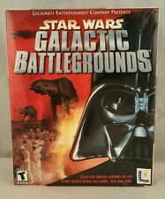 Star Wars: Galactic Battlegrounds (PC, 2001) BIG BOX GAME LUCAS ARTS NEW SEALED