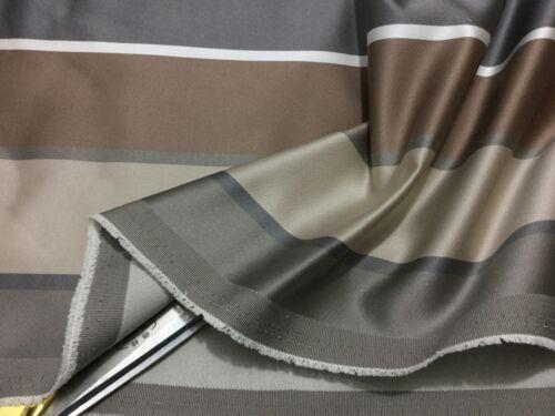 * Neuf Qualité rayé soyeux Mélange De Lin Rideau-Coussins-Artisanat Upholstery Tissu