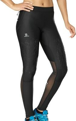 Salomon Intensity Womens Long Running Tights - Black
