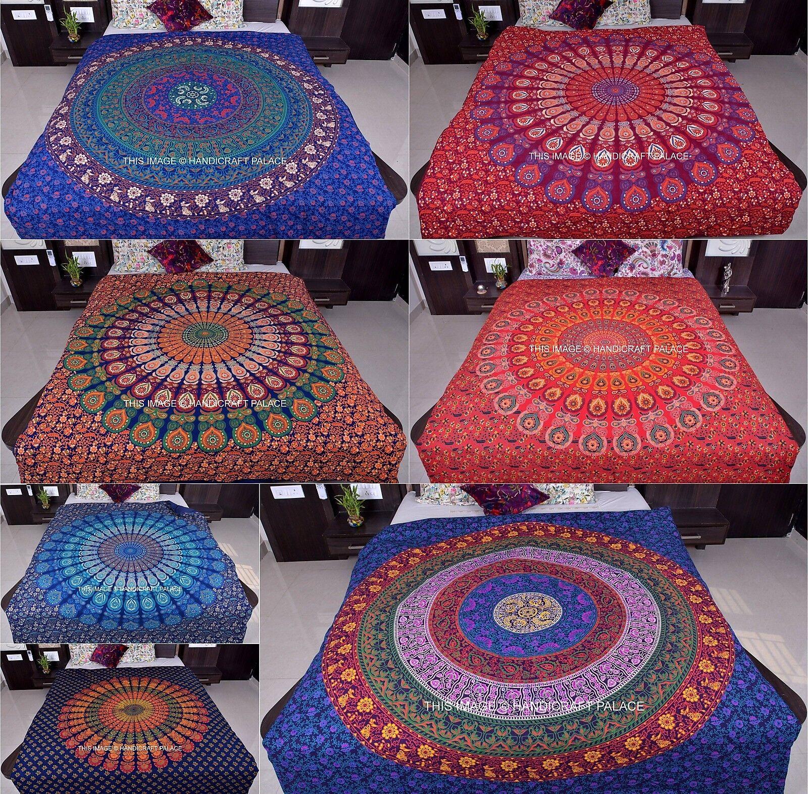 Indian Cotton Mandala Wholesale Lot 5 Pc Duvet Cover Reversible Comforter Case