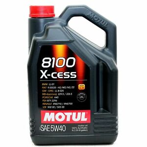 Motul-8100-X-cess-5W40-Motoroel-Ol-Vollsynthetisch-5-Liter-5W-40